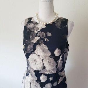 Eliza J. Gray White Floral Cutout Back Dress 6